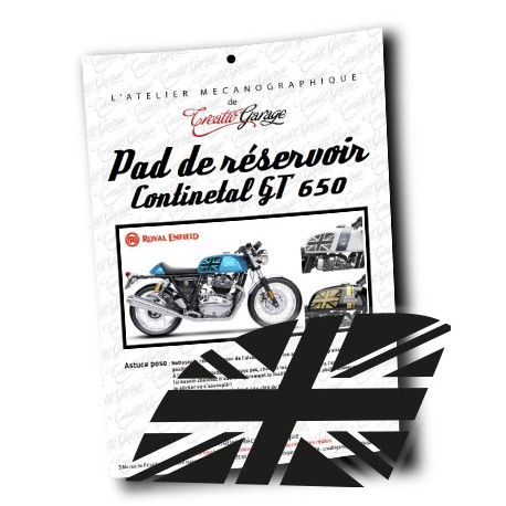 Pad sticker de réservoir Royal Enfield Continental GT