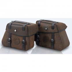 Sacoches Cuir Rugged Brown C-Bow HEPCO-BECKER