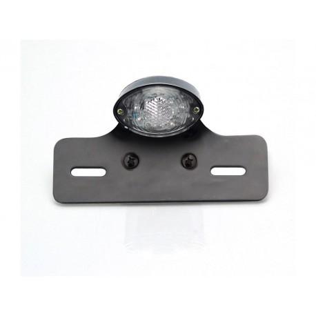 Feu arrière avec support de plaque V PARTS Noir Oval universel