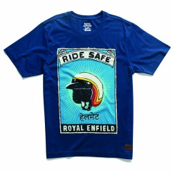 TSHIRT RIDE SAFE NAVY