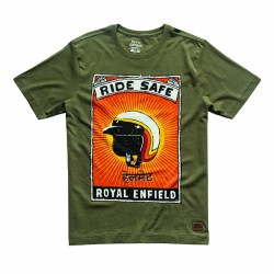 TSHIRT RIDE SAFE OLIVE
