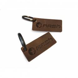 Porte clefs Mash cuir marron