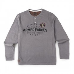 T-shirt manches longues gris Royal Enfield