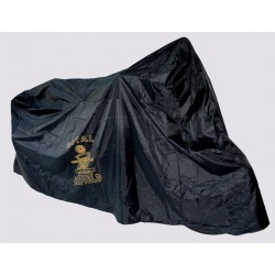 Housse moto noir Royal Enfield Logo Canon